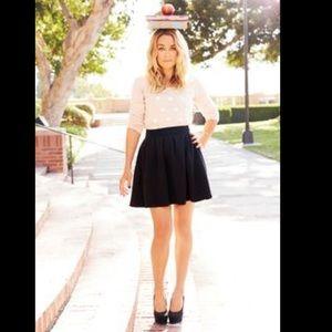 💎Lauren Conrad Black Elastic Waist Skater Skirt